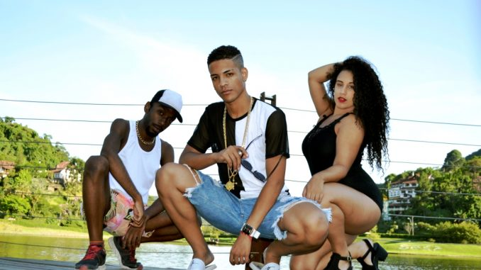 Verdec entre os bailarinos funk Luiz Black e Ju Bezerra